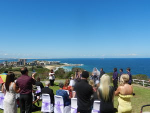Shepherds Hill is always a popular place for a marriage ceremony. You can see why with the beautiful views of Newcastle and the beaches to enjoy.