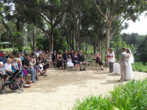 The Hunter Wetlands has a lovely ceremony space with seats for your guests and an tranquil outlook over the wetland ponds.